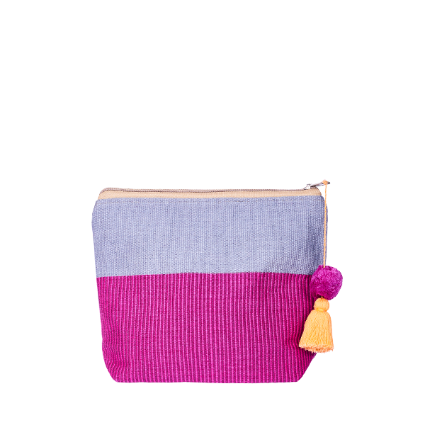 PomPom Cosmetic Bag Pink