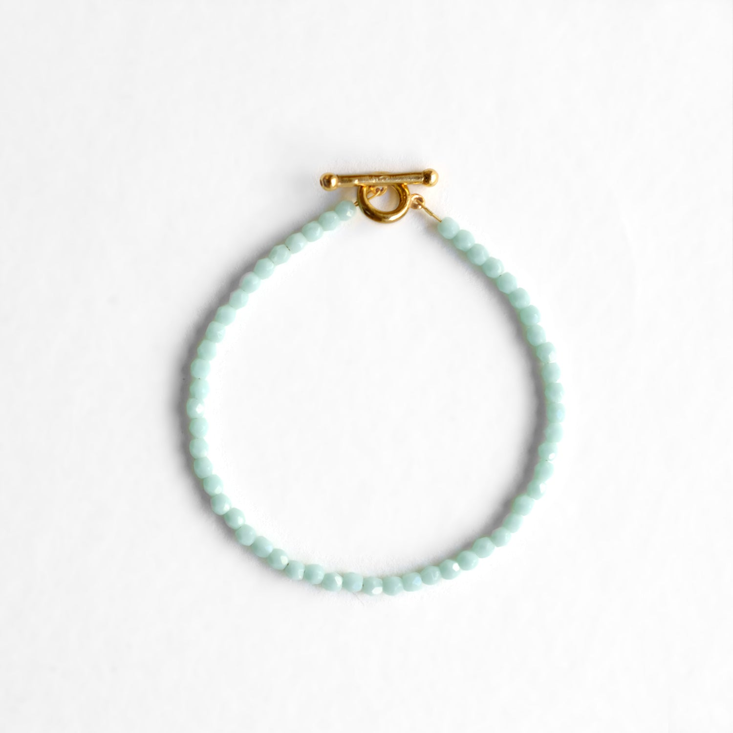 Glass Beaded Bracelet - Mint Sorbet