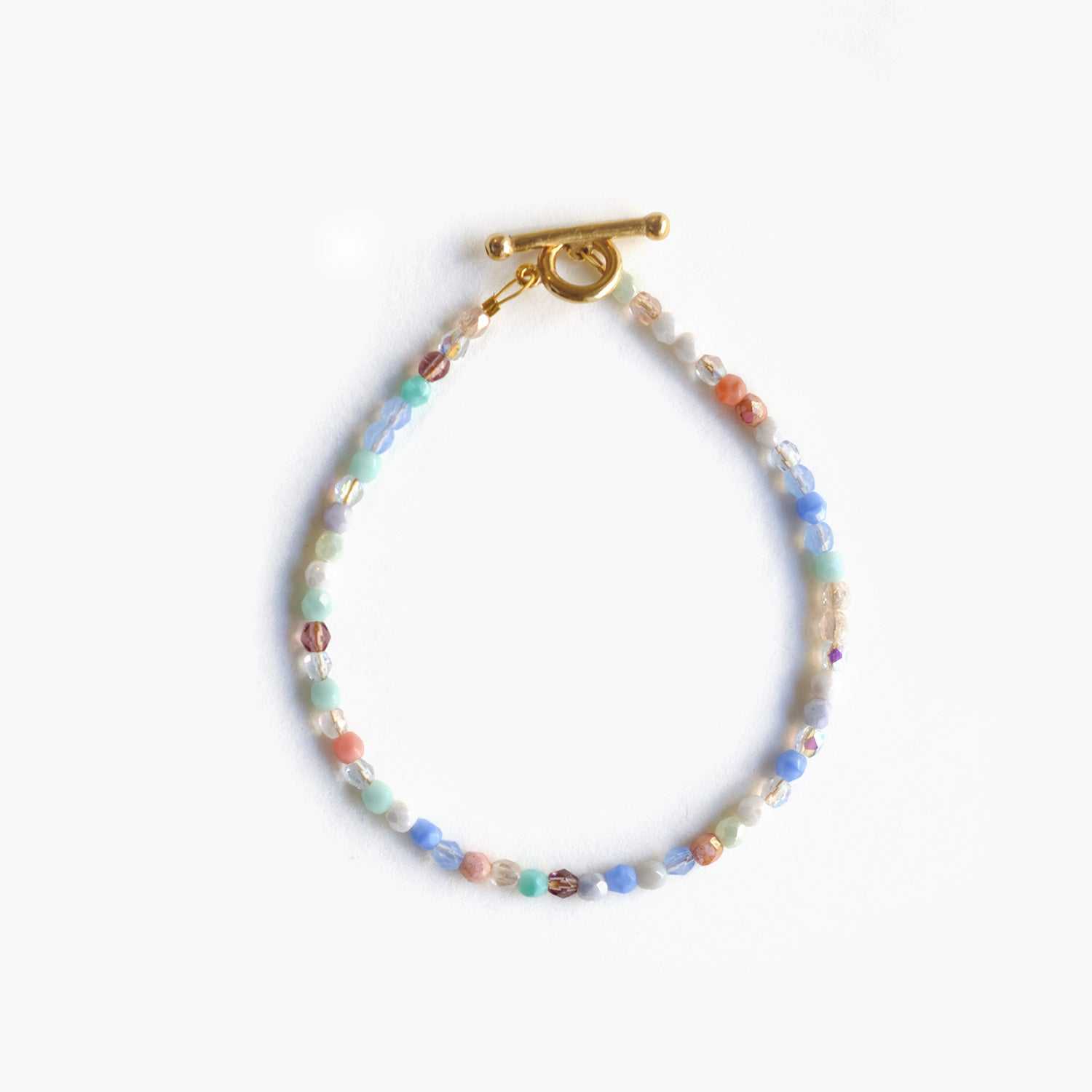 Glass Beaded Bracelet - Rainbow