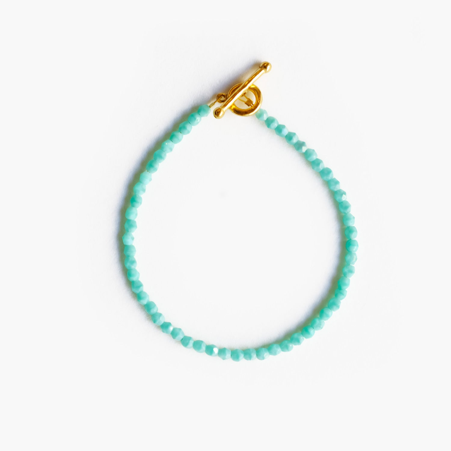 Glass Beaded Bracelet - Turquoise Water