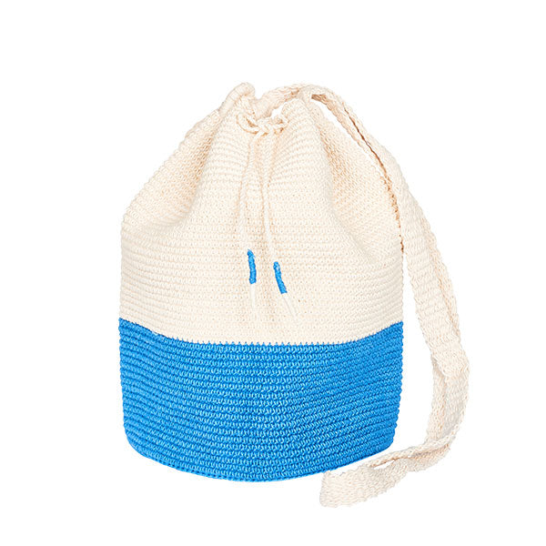 Crochet Bucket Bag Blue Bottom