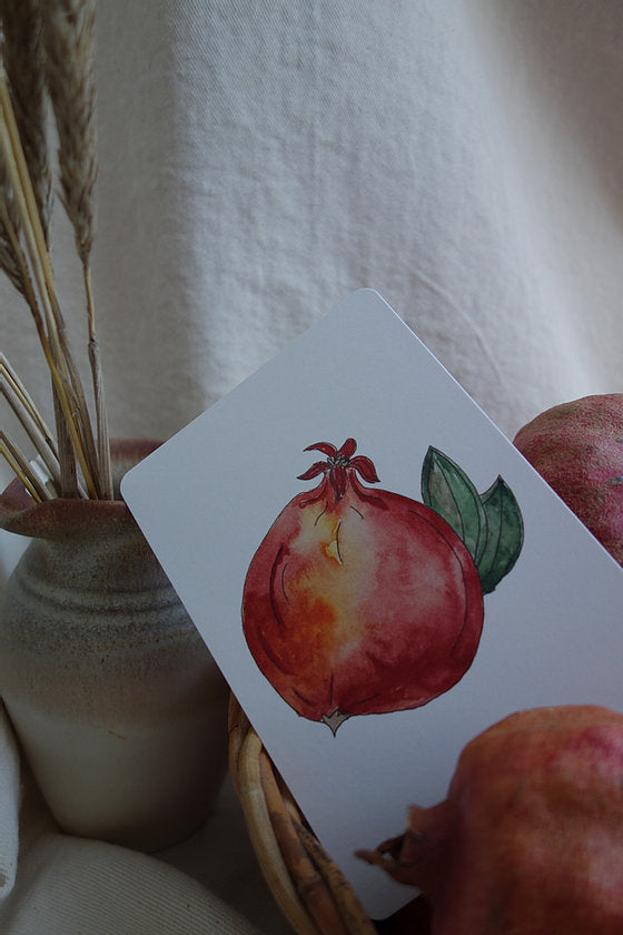 Postcard Pomegranate
