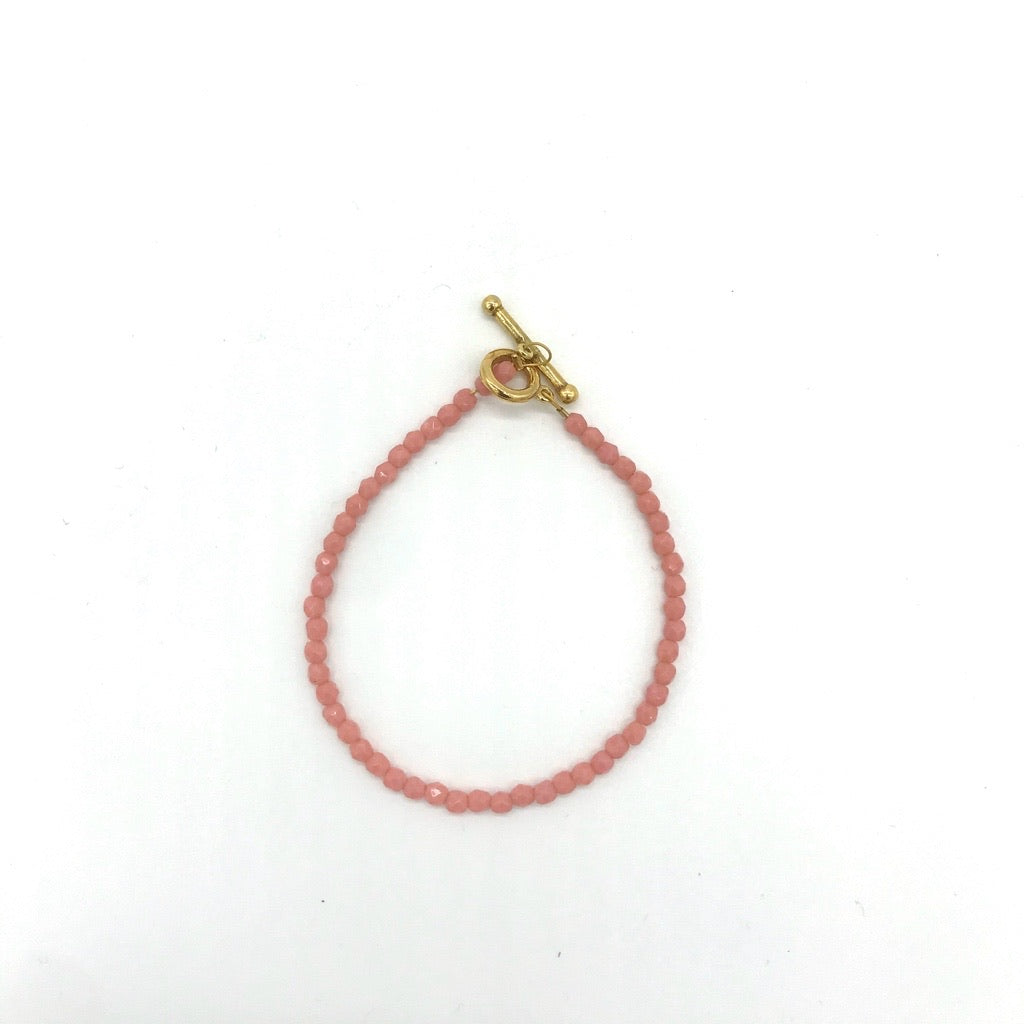 Glass Beaded Bracelet - Coral Bay
