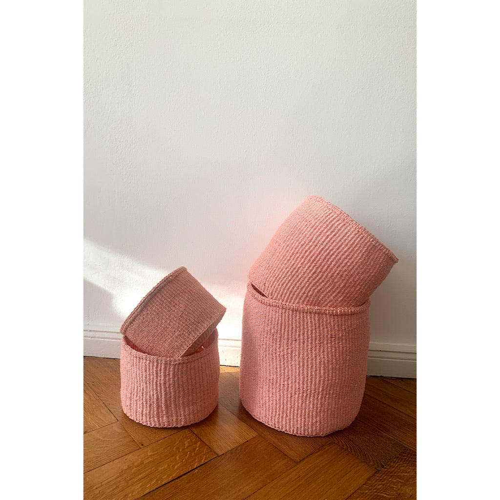 Sisal Basket Plain, Rose