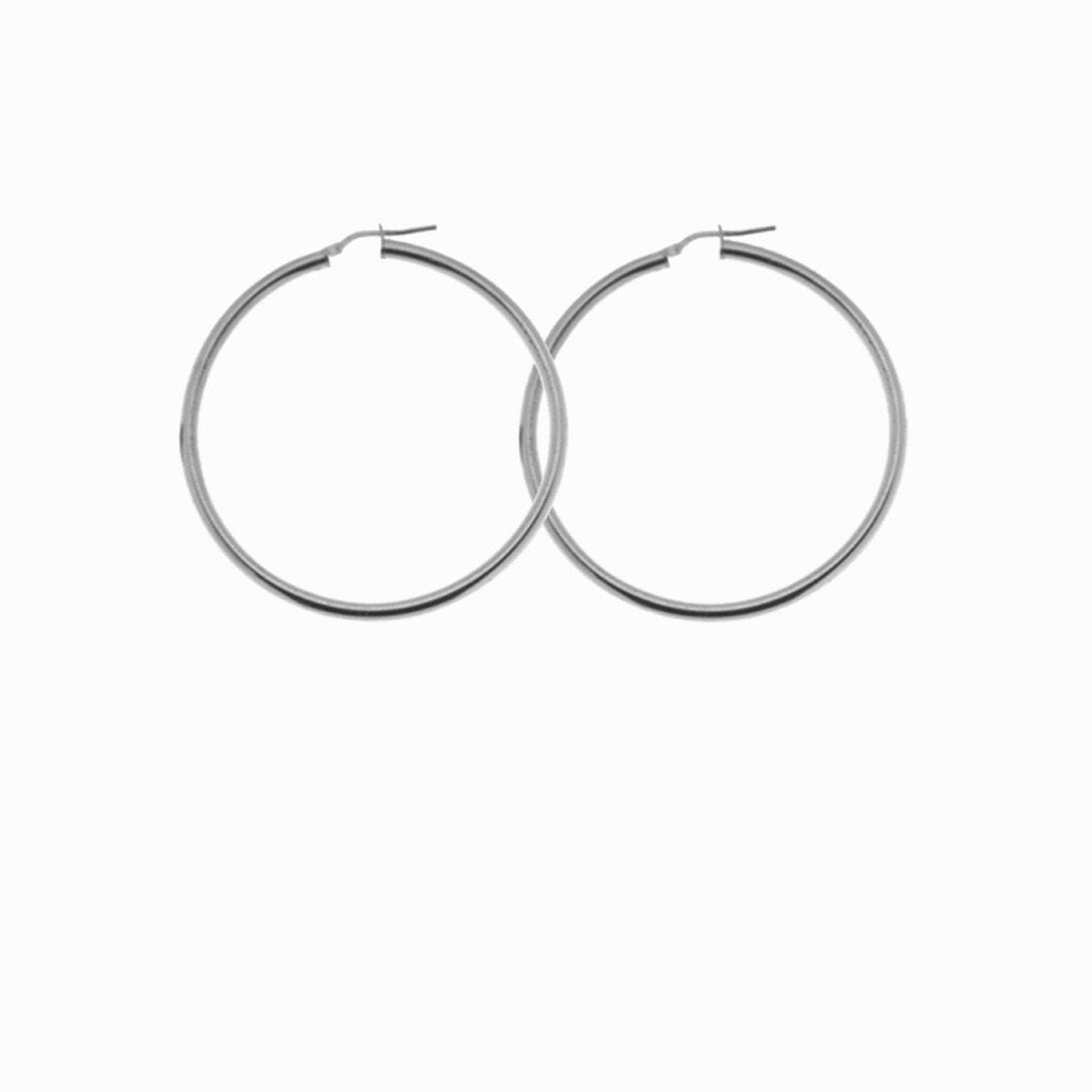 Hoop silver earrings