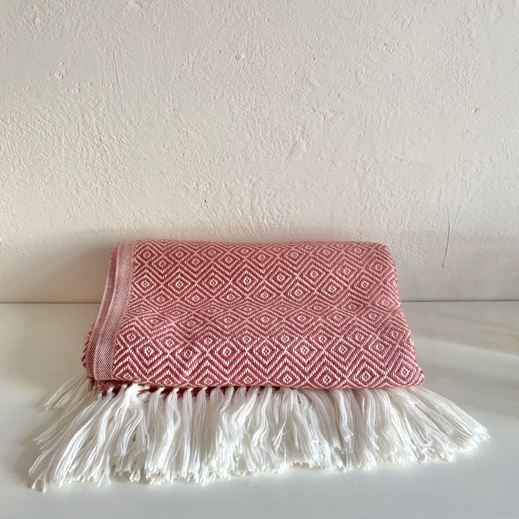 Alpaca Pattern Blanket Berry