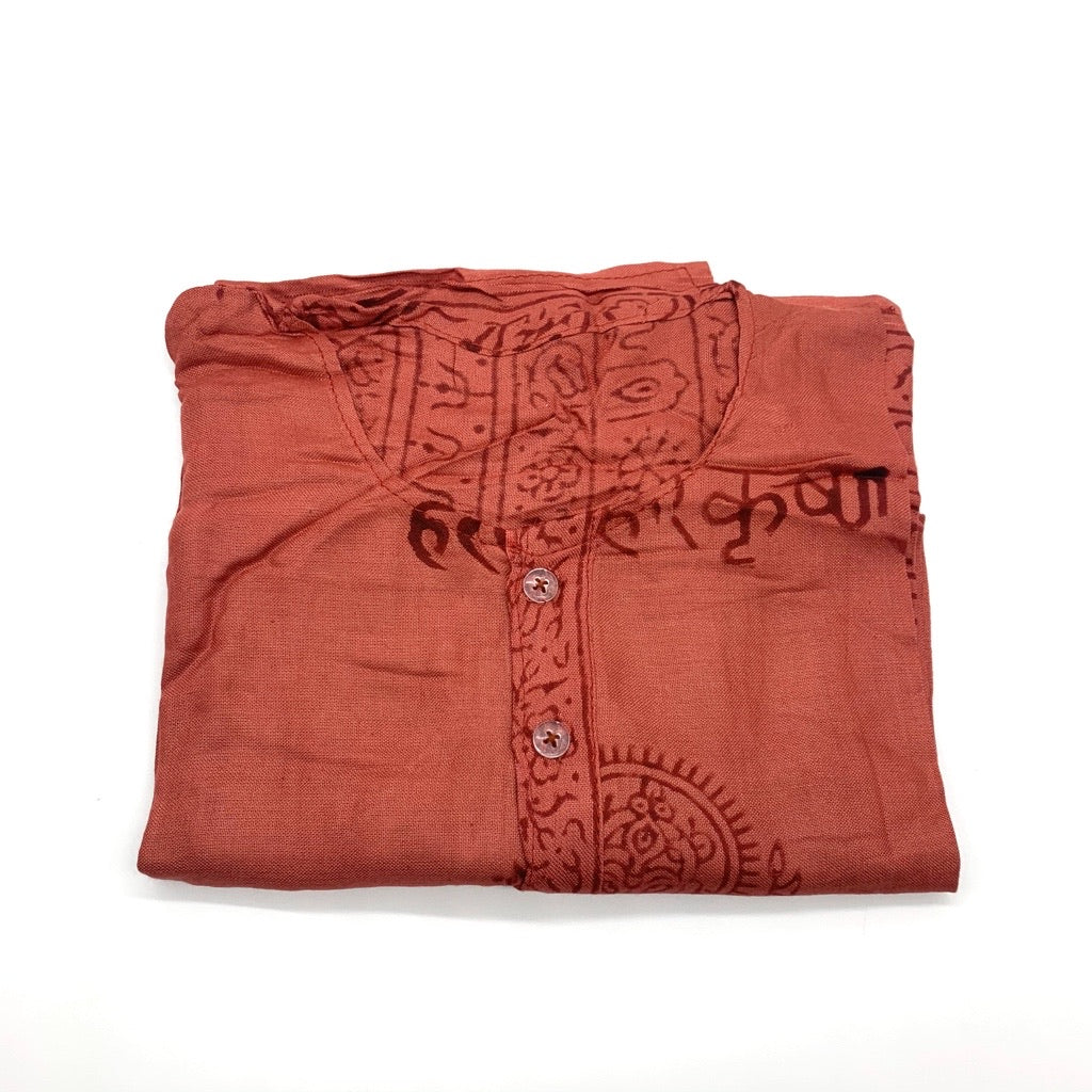 Samia Tunic Rust Red