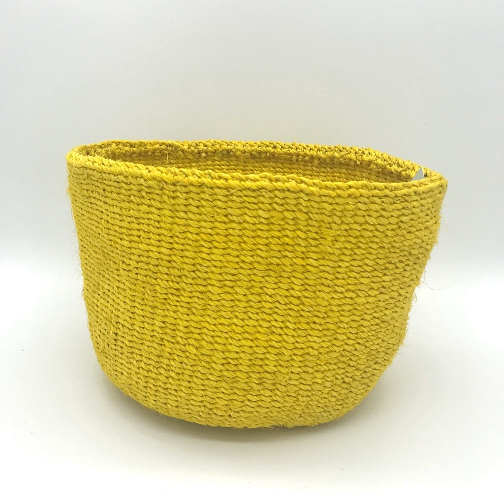 Sisal Basket Yellow