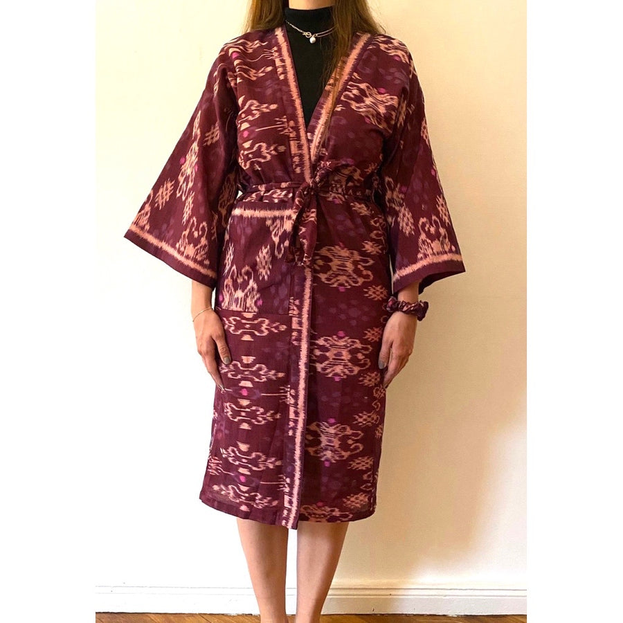 Ikat Robe Plum