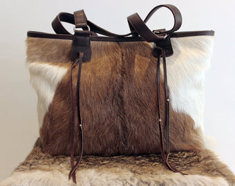 BROWN COWHIDE BAGS, Shoulder Bag, Tote Bag, Cowhide on Hair Bags, Weekender Bag, Brown Tote Bag, Cowfur Brown Bag, Valentine's Shopping