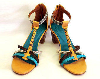 UTL Turquoise with Block Heel.