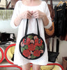 Honey Moon Bag Black Red Roses