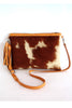 Crossbody bag in Tan White Calf Hair. Grace Bag