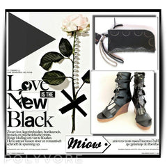 Zoe Leather Black