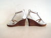 WEDDING SHOES, BRIDAL Shoes in Silver Leather.