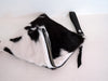Cow Hide Purse Black White Brazil Calf Hair Bag