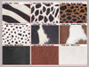 Sumi Dark Tan Cow Hide Hair Leather