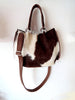 Claire Bag Cow Hide Hair in Brown White