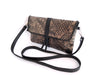 LEATHER CLUTCH BAG Hand Tooled In Black Grey. SK Clutch