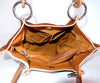 Handle Bag for Women in Tan White Cow Hide Hair. Claire bag
