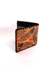 Men's Leather Wallet Hand Tooled With Tribal Feathers
