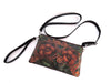 HAND TOOLED LEATHER Purse in Hibiscus Design. Putri Small