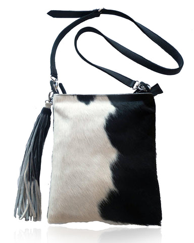 Amanda Black White Cowhide