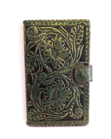 Antique Wallet Vintage Green