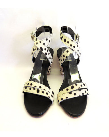 Criss Cross Leopard White