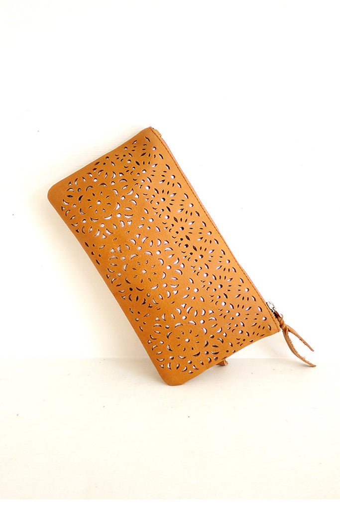 Soraya Clutch Hand Tooled
