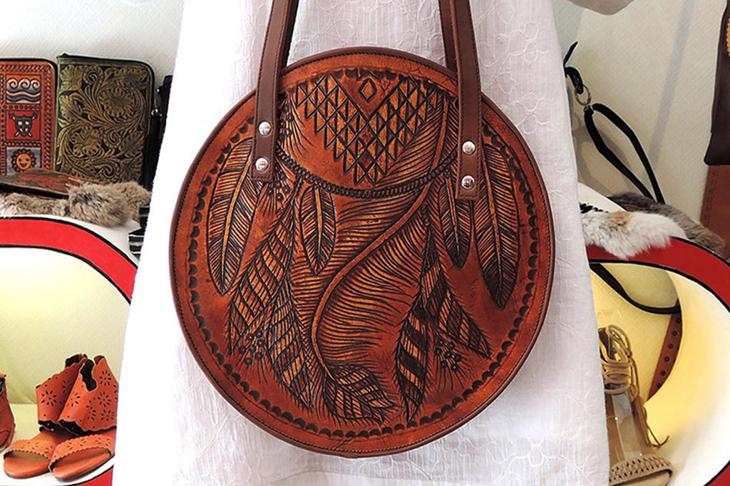 Honey Moon Bag Vintage Tan Tribal