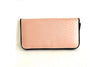 Leather Wallet in Nude Blush Snake Embossed Leather. Darling Wallet