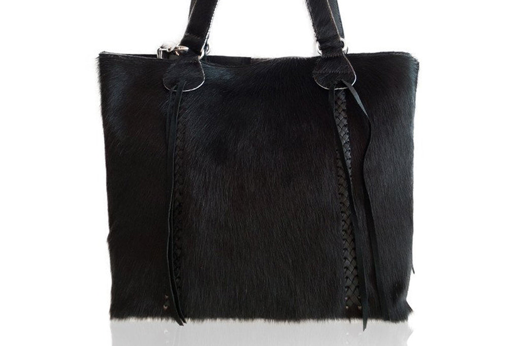 Black Cowhide Handbag. Handmade in Bali. Mother's Day Gift