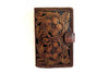 Vintage Brown Handtooled Leather. Wallet for Women's. Antique Wallet