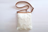 White Calf Hair Tote Bag. Grace Sling Bag