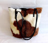 BROWN WHITE BUCKET Bag in Calf Hide Hair / Natural Markings