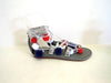 USA POMPOM Gladiator Sandals in Genuine Patriotic Red White Blue Sandals / Custom Colors