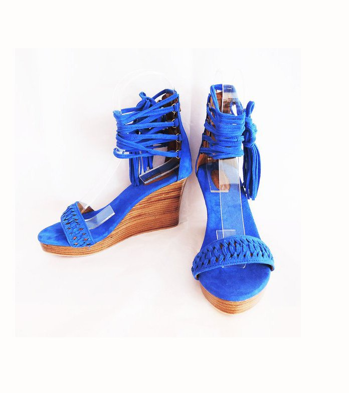 05767307b897 Catalog. Shoes · Bags · Accessories. PLATFORM SHOES Blue Suede. Platform  Heels w  Handmade Chinese Knot ...