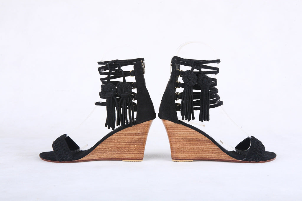 BLACK LEATHER SHOES, Bohemian Style Dancing, Bridal, Suede Shoes