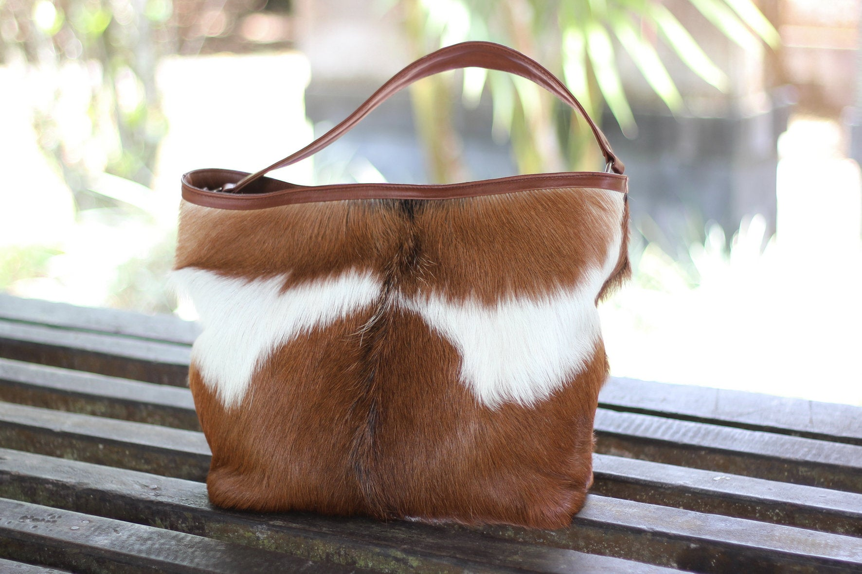 BROWN WHITE COWHIDE HAIR