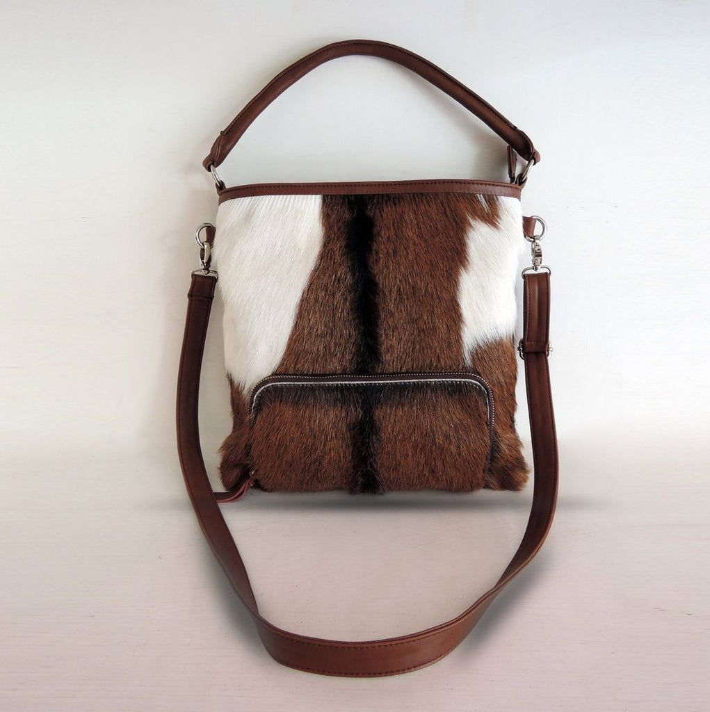 COW HAIR BAG, Calf Hair Bag, Brown Cowhide Bag