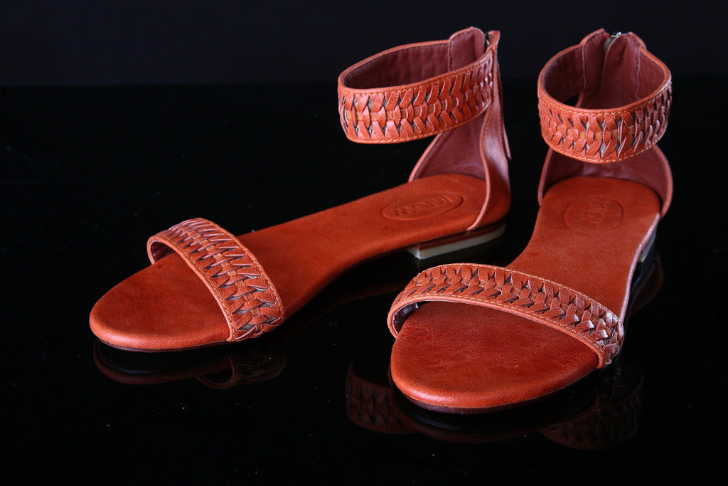 CAMEL LEATHER FLATS Shoes for Women, Boho Shoes, HandMade Sandals.