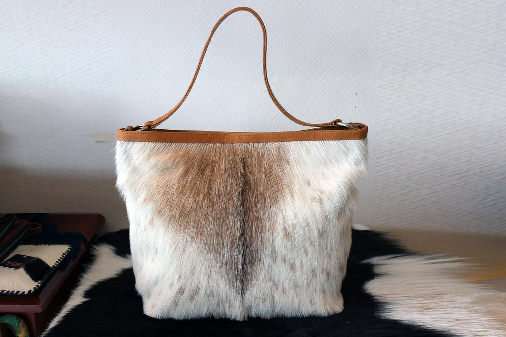 HAIR ON HIDE Bag, Tan Leather Tote Bag. Cowhide Leather Tote, Western Purse