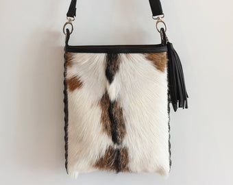 COWHIDE HANDBAG LEATHER Tote Bag / Full Cowhide Purse, Shoulder Bag
