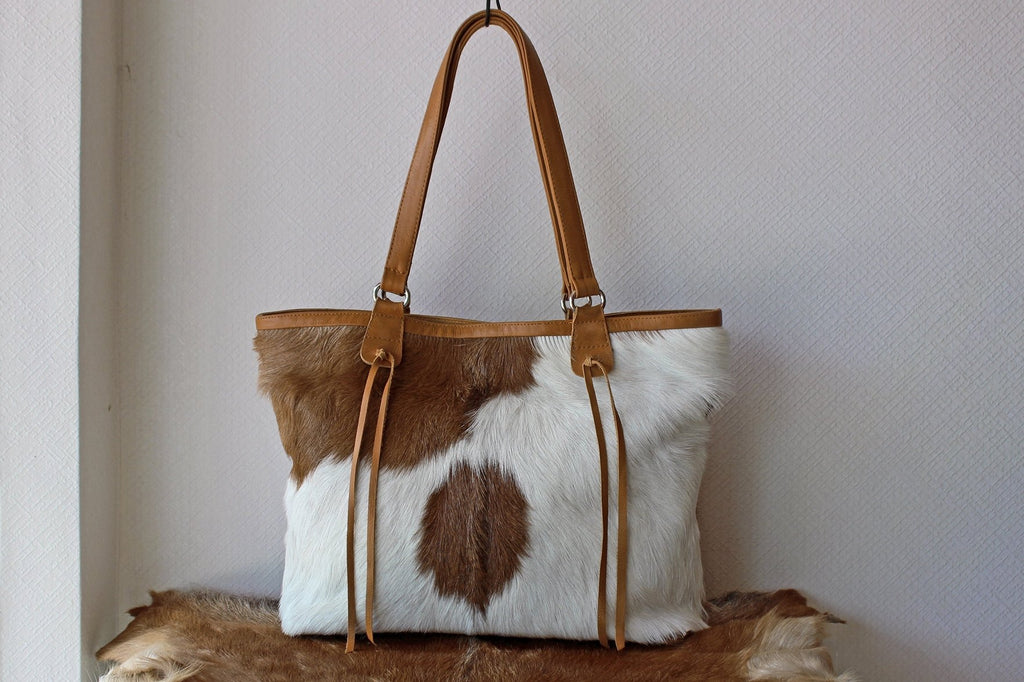 CALF HAIR TOTE Bag / Market Weekend Bag / Document Bag