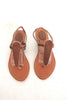 Sandals For Women's in Tan Cowhide Leather. Tammy