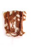 Shoulder Bag in Brown White Calf Hair. Sumi Bag