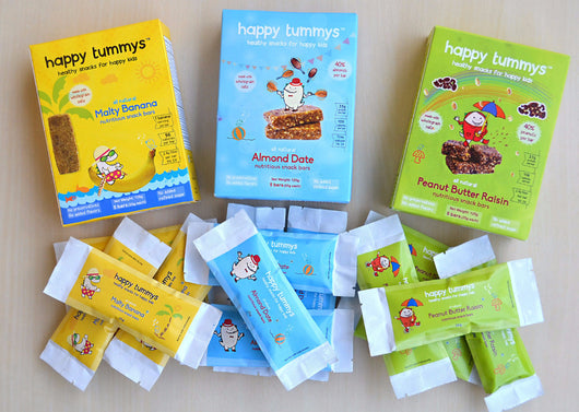 Happy Tummys Snack Bars Value Pack (3 flavors) - (Pack of 15 bars)