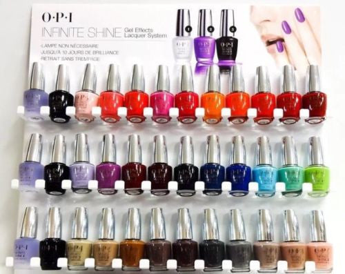 NEW~OPI INFINITE SHINE COLLECTION- 36 BOTTLES SET 30 COLORS, 3 BASE + 3 TOP COAT
