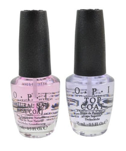 NEW OPI Nail Polish TOP Coat & BASE Coat FULL SIZE Combo 0.5 OZ  Authentic!